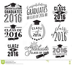 Class Of 2016 Design Graduation Wishes Overlays Lettering Labels Design Set
