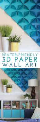 Renter-Friendly 3D Paper Wall Art