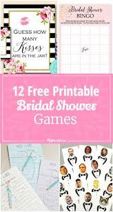 12 Free Printable Bridal Shower Games Printable Bridal