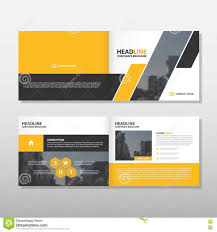 triangle vector annual report leaflet brochure flyer template design presentation cover designs yellow black
