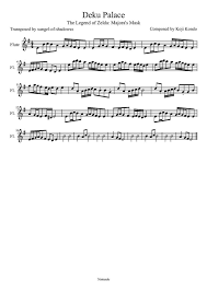 Deku Palace Sheet Music For Flute By Drakon Thedragon On Deviantart