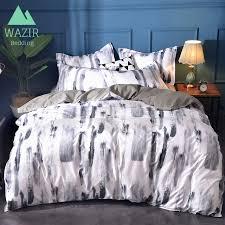 wazir splash ink watercolor white bedding set duvet cover pillowcase comforter bedding sets bed linen comforters