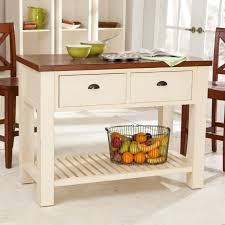 White Kitchen Cart With Granite Top Kitchen Carts Crosley Kitchen Cart Island Natural Wood In White