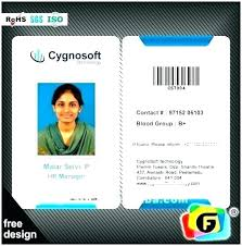 Company Id Badge Template Template For Identification Card Id Badge Template For