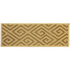 ottomanson jardin collection geometric design beige 9 in x 26 in indoor outdoor