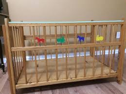 vintage port a crib solid wood antique folding portable crib playpen porta crib