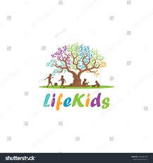 Design Life Kids Tree Life Kids Logo Design Inspiration Stock Vector Royalty