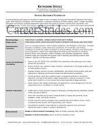 School Counselor Resume Sample High School Guidance Counselor Resume Examples Sample Choose For 4