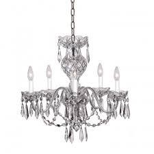 comeragh 5 arm chandelier 240v