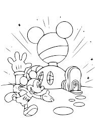 Des Sports Coloriage Maison De Mickey Coloriage En Ligne Gratuit