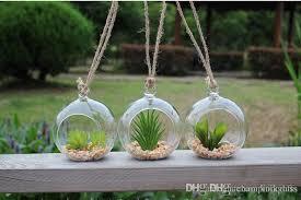 80mm hanging glass candle holders 12cm 6 inch air plant orb holders hanging terrarium pots garden home decor wedding supplies airplant terrarium glass