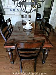 How to refinish a dining room table Without Sanding Beautiful Refinished Table Redhead Can Decorate Diy Refinished Dining Table Redhead Can Decorate