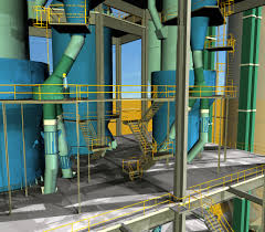 Cement Cyclone Design 3d Model Cyclone Preheater Cement Plant Cgtrader