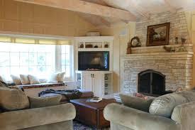 Corner Living Room Cottage Great Room Traditional Living Room Corner