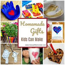 homemade diy gifts kids can make