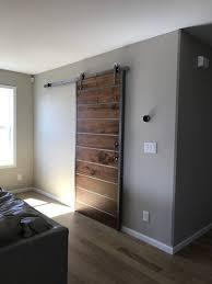 solid contemporary sliding barn doors