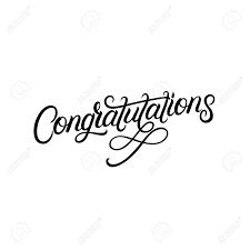 Congratulations Poster Congratulations Hand Written Lettering Modern Brush Calligraphy