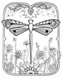 Small Picture Dragonfly Mandala Coloring Pages Coloring Pages