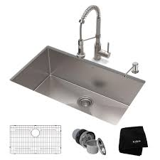 Kraus Standart Pro All In One Undermount Stainless Steel 30 In
