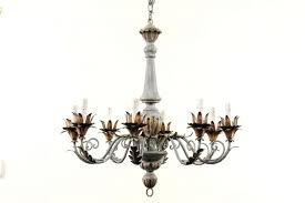 acanthus leaves chandelier leaf iron 18th c 36 french painted and gilded eight light wood metal