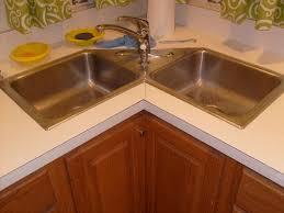 Corner kitchen sink cabinet design
