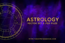 Alchemy Birth Chart Astrology Vector Set Birth Chart Digital Download