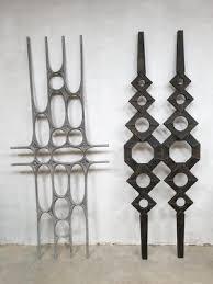 brutalist metal wall art sculpture