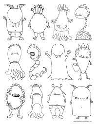 Monsters Coloring Page Preschool Dibujos Monstruos Para