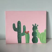 green cactus canvas 8x10 in canvas painted canvas diy3