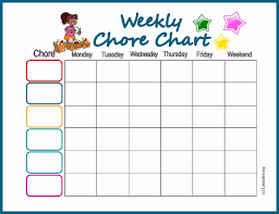 Weekly Household Chores Weekly Chore List Awesome How To Divide Household Chores