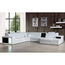 contemporary leather sofa sleeper. divani casa polaris - white contemporary bonded leather sectional sofa by vig furniture sleeper