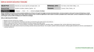 Senior Architect Cover Letter Resume 28887