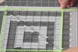 How to Square Up a Quilt Block | FaveQuilts.com & Mark off your ruler with the glow line tape for the correct finished block  size. Line up your square ... Adamdwight.com
