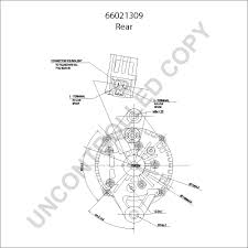 66021309 alternator product details prestolite leece neville Hitachi Alternator Identification 66021309 rear dim drawing