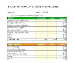 Personal Cash Flow Statement Template Excel Cash Flow Statement Template Xls Stagingusasport Info
