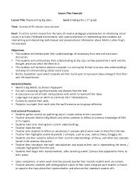 Format For Lesson Plans Lesson Plan Example