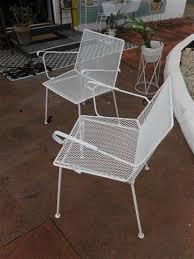 mid century metal outdoor chairs c 60s