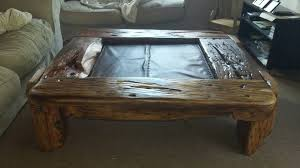 table made out of railway sleepers