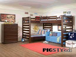 Kids Bedroom Furniture Bunk Beds Parker Triple Bunk Boys Room Furniture My Pigsty Baby And