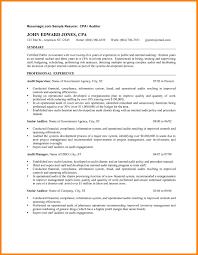 Cpa Auditor Resume Elim Carpentersdaughter Co