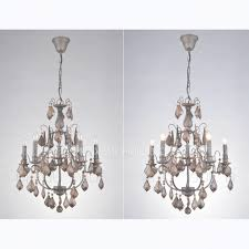 6 light antique crystal chandeliers for wrought iron for rustic iron and crystal chandelier