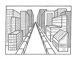 perspective drawings of buildings. One Point Perspective City Drawings Of Buildings I