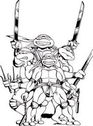 Small Picture TMNT Coloring Pages Printable Teenage Mutant Ninja Turtles