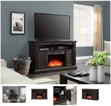 55 Inch TV Stand With Fireplace Media Console Electric Entertainment Center SALE #Whalen