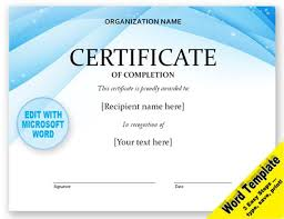Award Certificates Word Beauteous CERTIFICATE Editable Word Template Printable Instant Etsy
