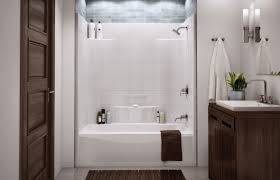 bathroom tub shower combo with seat charming one piece bathtub throughout classy one piece bathtub and wall unit your house decor