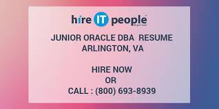 Oracle Dba Cv Junior Oracle Dba Resume Arlington Va Hire It People We Get It Done