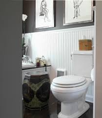 beadboard wall ideas bathroom traditional with wood trim chinese garden stool grey walls