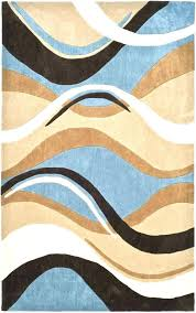 brown blue area rugs bedroom modern brown and blue area rugs of lavish home fl scroll