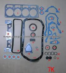 TOYOTA 7K engine gasket kits-full set, good quality good price for ...